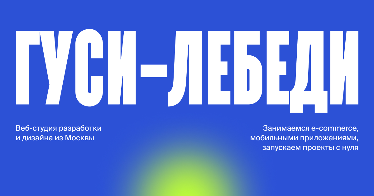 Скриншот кейсы Создание информационного сайта клиенты веб студии Гуси-Лебеди